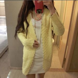 912842803c ... pearl beading knit cardigan sweater. Long slim small fragrant style  pear.. Long slim small fragrant style pear.