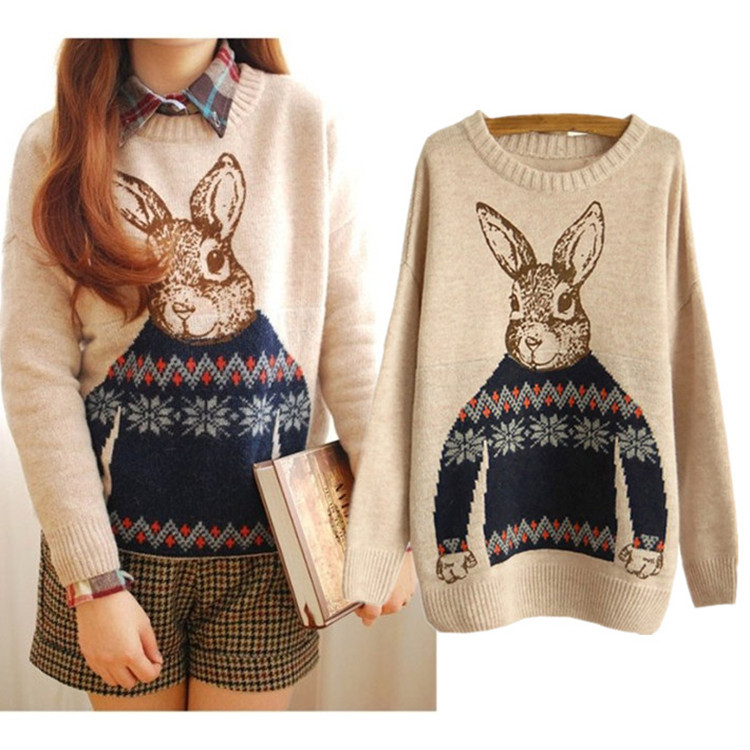 Cute Peter Rabbit Thick Autumn/Winter Sweater Significantly Thin ...